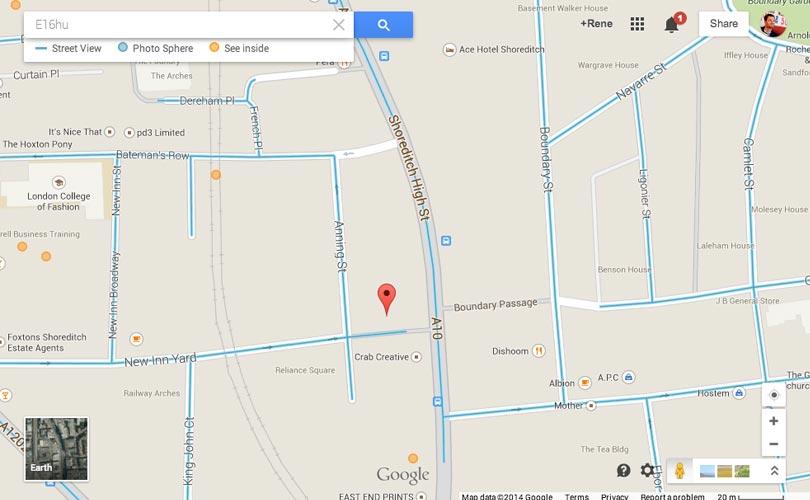 responsive web design google maps example