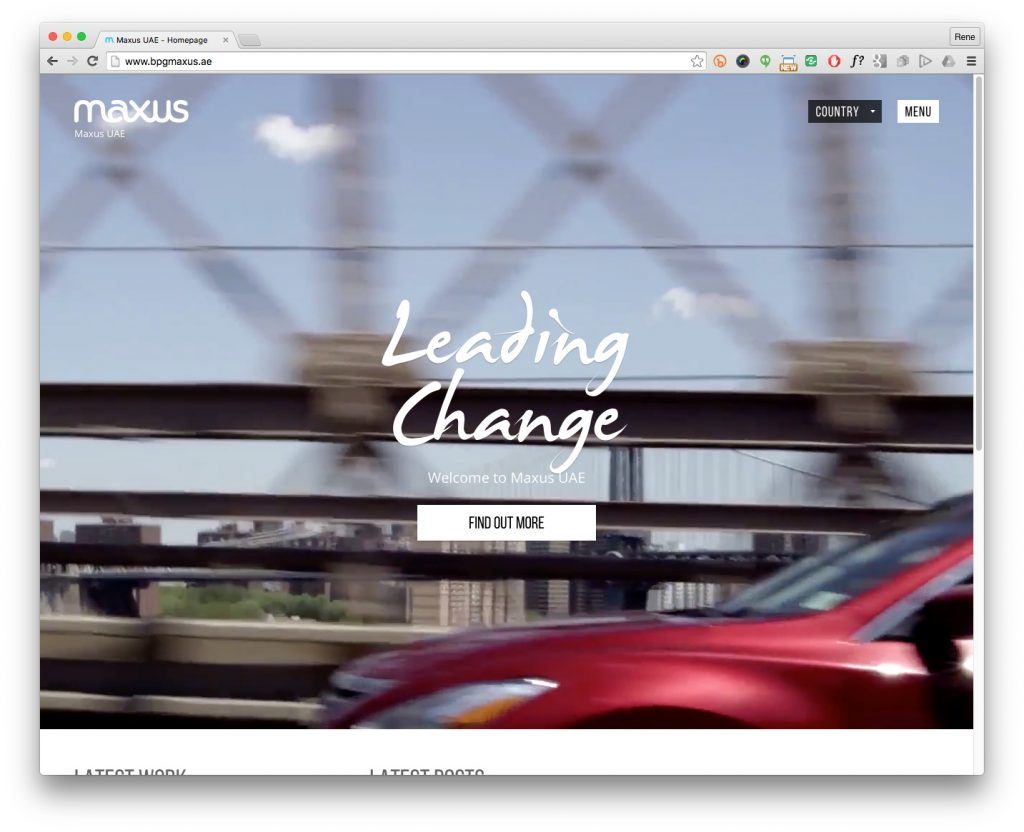 maxus global website websites