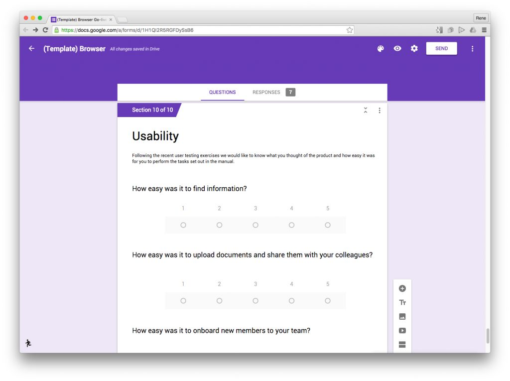 user testing google forms