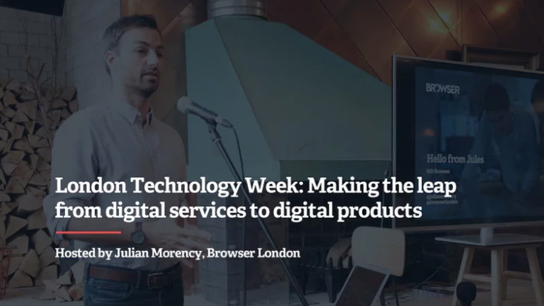 london technology week digital products