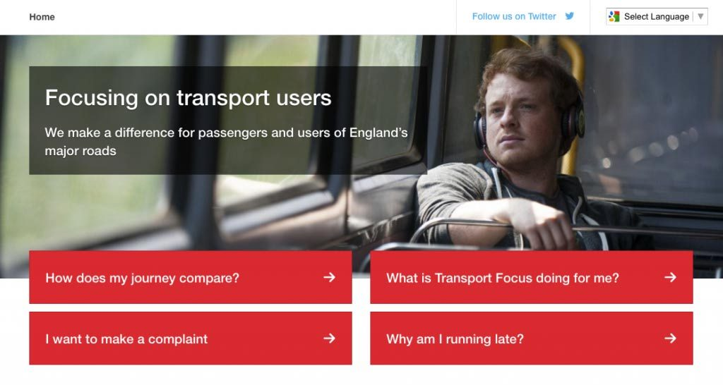 Improving user experience with the UK's transport watchdog 2