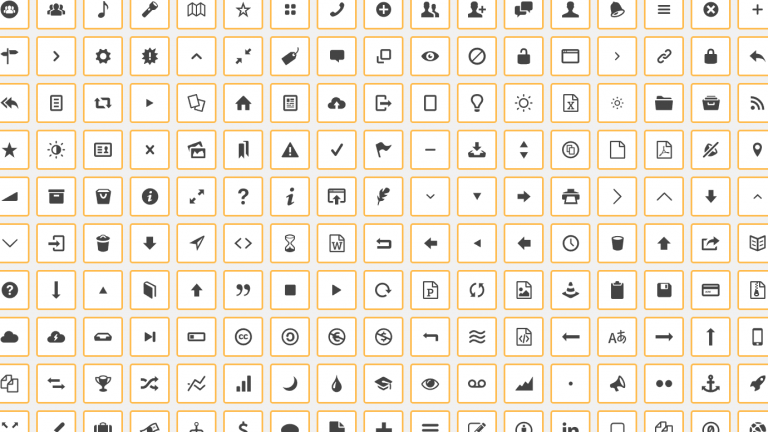 Collage of SVG icons