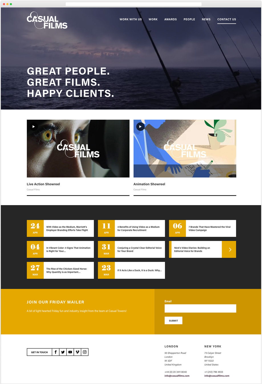 casual films web design