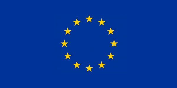 EU flag - yellow stars on blue background