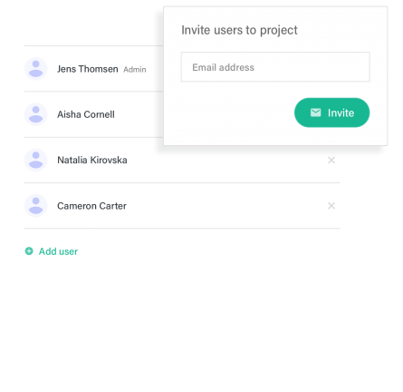Document portal invite users example