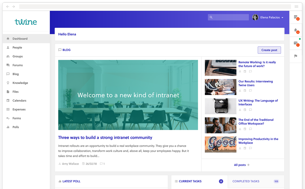 custom intranet application