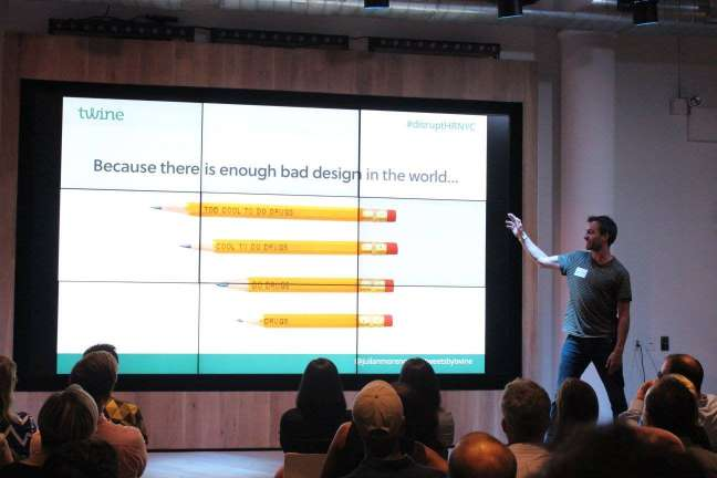 Julian Morency talks about Browser's work at disrupt hr new york city