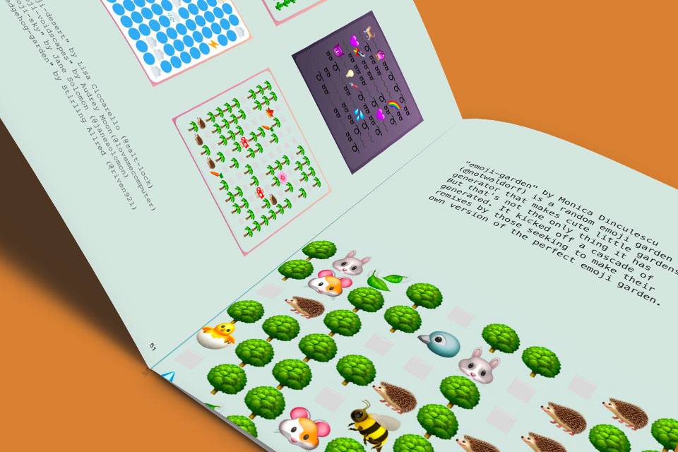 Book showcasing projects made on Glitch