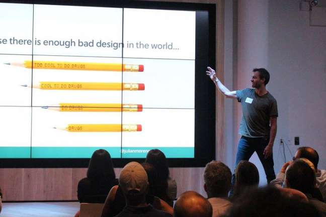 Julian Morency represents Browser at a HR conference in New York