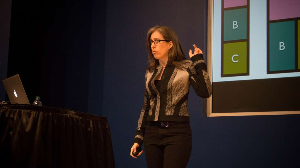 Jen Simmons talking about responsive web design at An Event Apart.