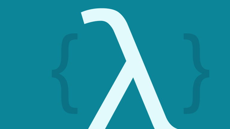 An illustration with a lambda symbol between curly brackets