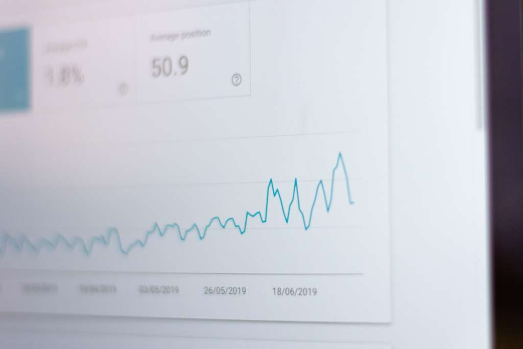 Line graph of an SEO metric going up