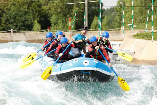 Browser team members on a company day out at Lee Valley White Water Centre