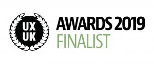 User Experience UK Awards 2019 finalist badge