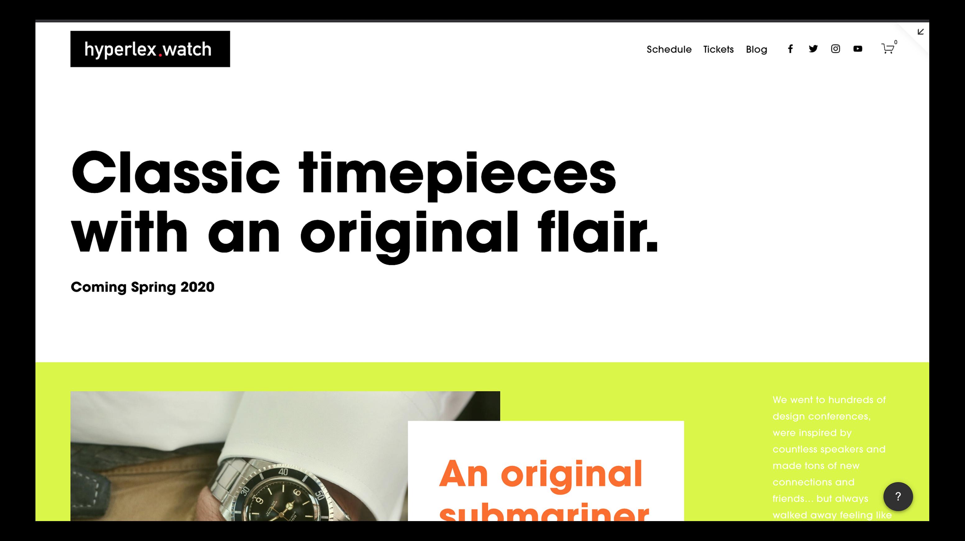 Hyperlex homepage image from Browser JAMS 2020