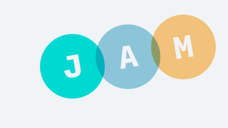 A rendition of the JAMStack logo