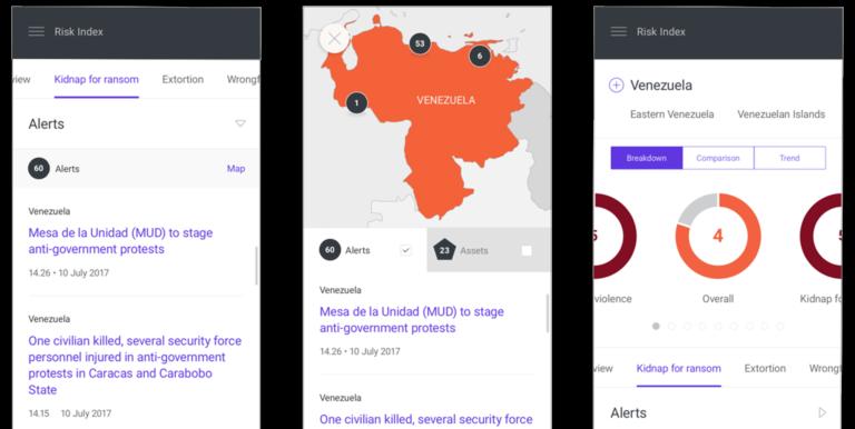 Mobile screenshots of the insights platform UX