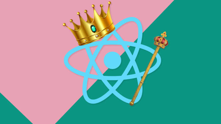 react logo with crown and sceptre